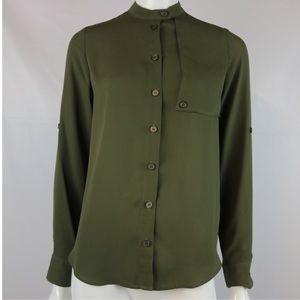 WHOWHATWEAR MILITARY STYLE BUTTON DOWN